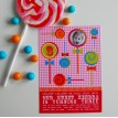 Lollipop Sweet Candy Birthday Party Printable Invitation